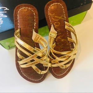 Sam Edelman gold sandal for girls